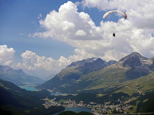 paraglider st moritz oberengadin