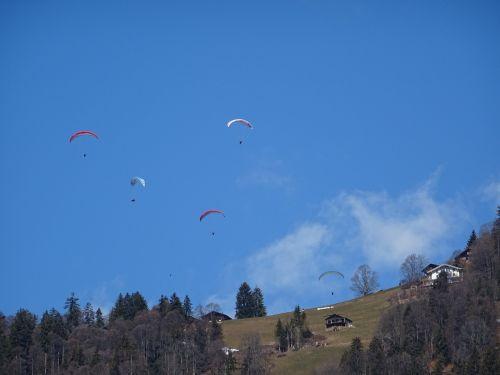 paraglider sky paragliding