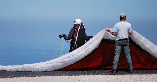paraglider start paragliding