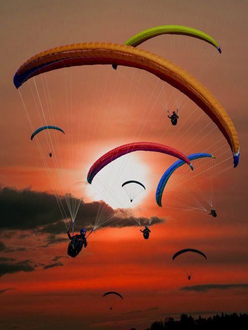 paraglider paragliding fly