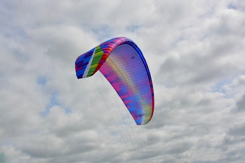 paraglider wing  sailing  wing multicolor