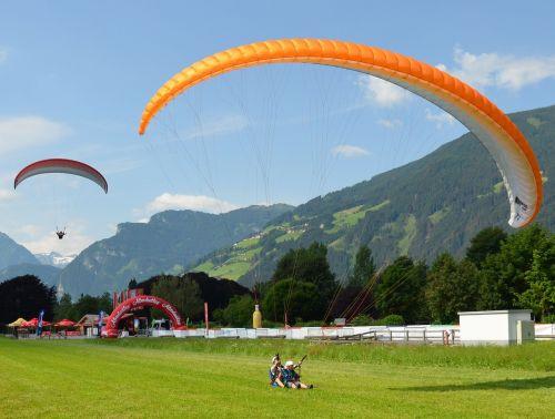 paragliding zillertal austria
