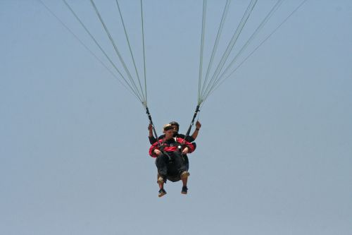 paragliding parachute sky
