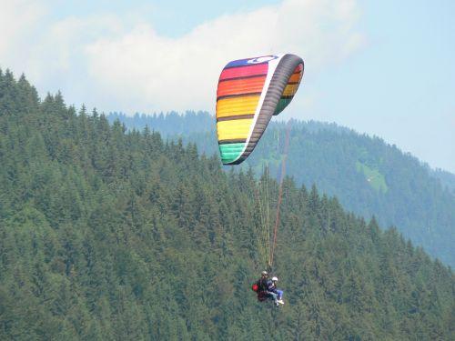 paragliding mountains mountain sport