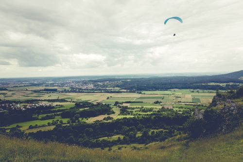 paragliding fly float