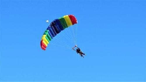 paragliding parachute plane