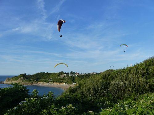 paragliding side basque