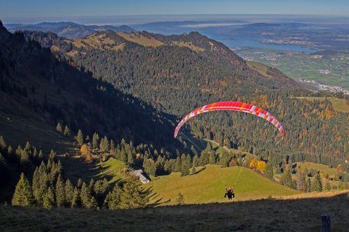 paragliding start paraglider