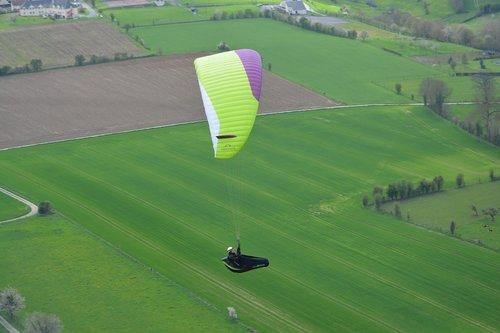 paragliding  paraglider  fifth wheel