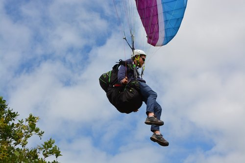 paragliding  paraglider  landing paragliding