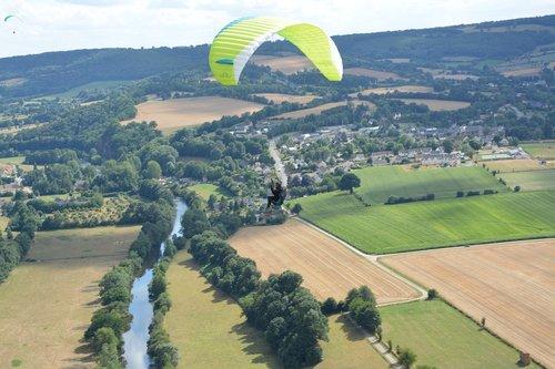 paragliding  panoramic views  paraglider
