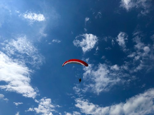 paragliding  sky  sport