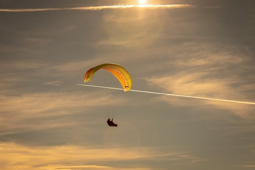 paragliding  flying  sky
