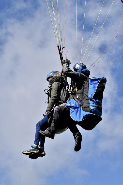 paragliding  paraglider  paraglider tandem