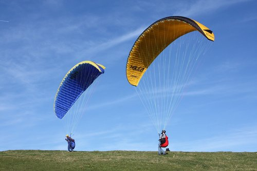 paragliding  paraglider  air sports device