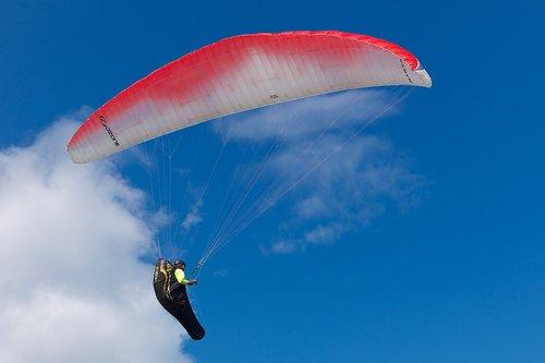 paragliding  air  sky