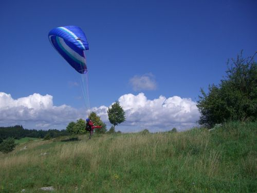 paragliding start trial pilot