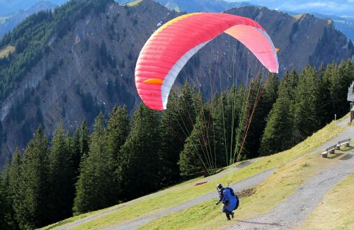 paragliding start mountain world