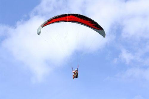paragliding skydiving parachute
