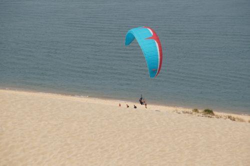 paragliding mountain paraglider
