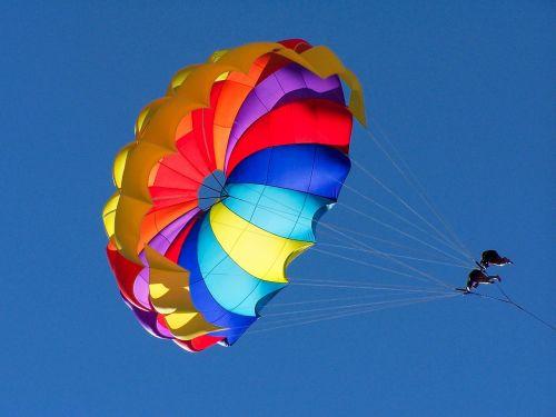paragliding color parasailing