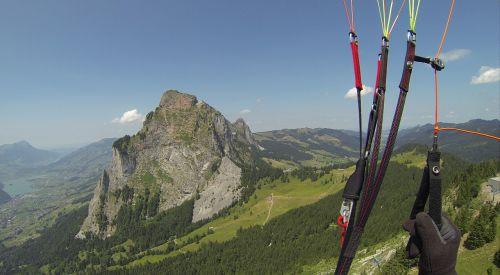 paragliding fly summer