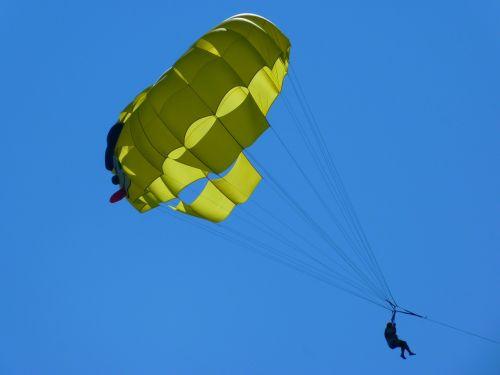 parasailing controllable parachuting top