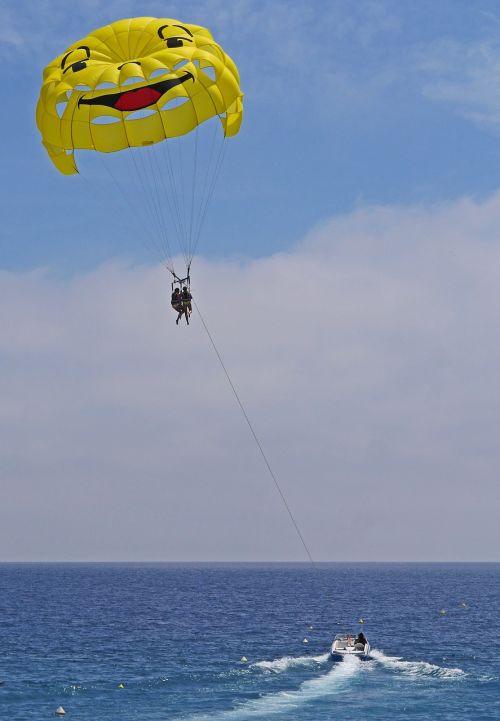 parasailing screen powerboat