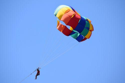 parasailing colorful adventure