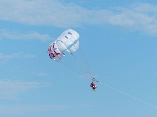 parasailing controllable parachuting high