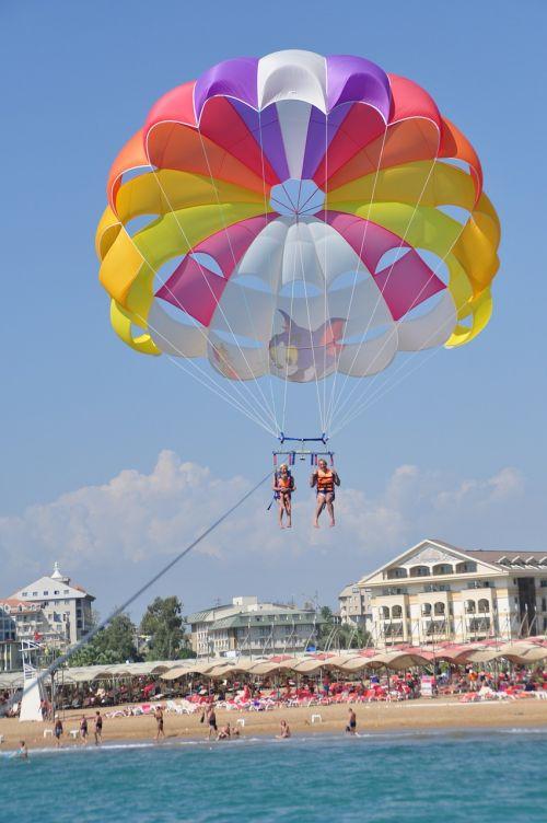 parasailing beach holiday side