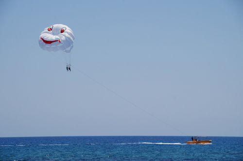 parasailing paragliding water sport
