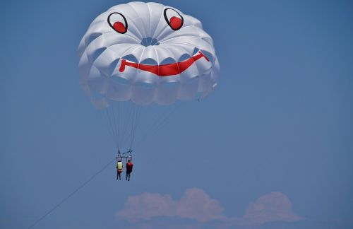 parasailing paragliding parachute