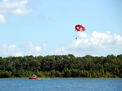 Parasailing On The Lake