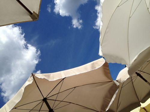 parasol blue sky summer
