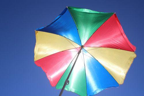 parasol sun protection blue sky