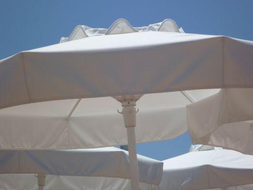 parasols white shade tree