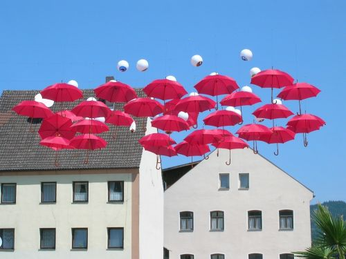 parasols sky summer