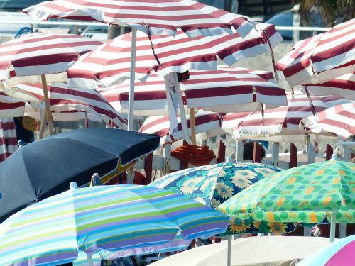 parasols shade tree hot