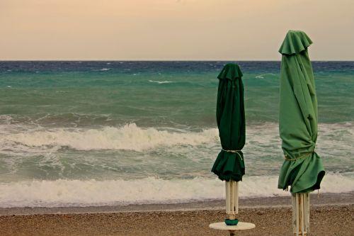 parasols beach closed