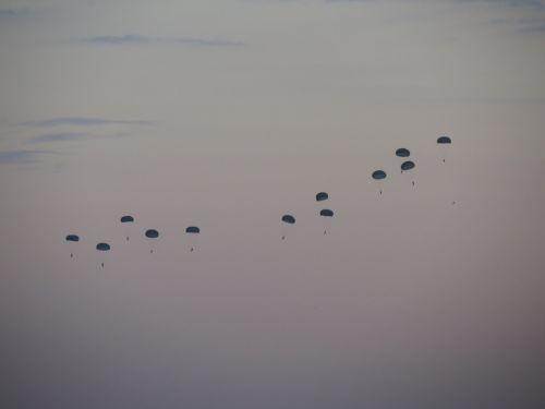 paratroopers landscape rio de janeiro