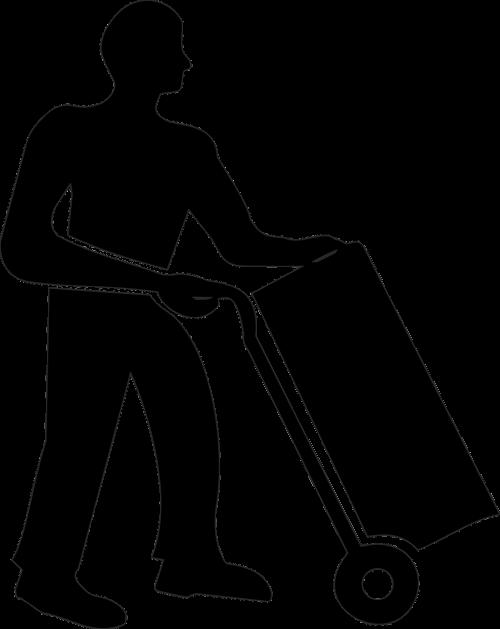 siuntinių paslauga,siuntinio paštas,siuntinys,pašto siunta,trapi,judėti,saugojimas,vežimėlis,darbuotojas,siluetas,nemokama vektorinė grafika