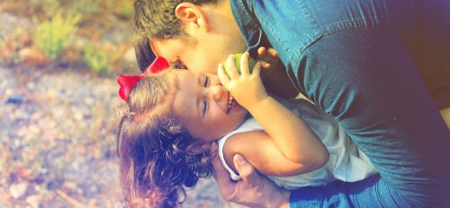 parents and children happiness love