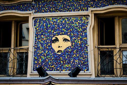 paris mosaics windows