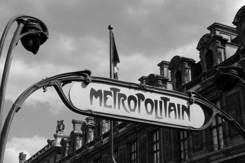 paris metro metro station