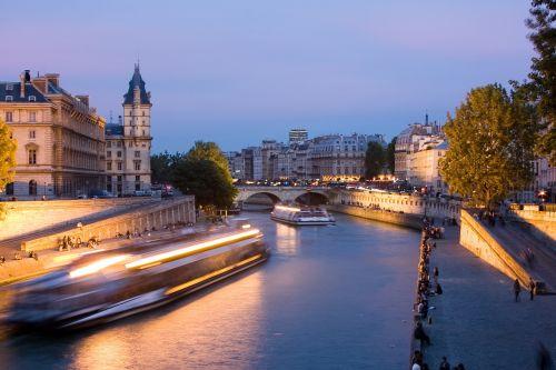 paris seine river night