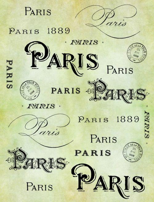 Paris Typography Vintage