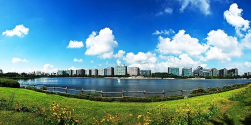 park lake park sky