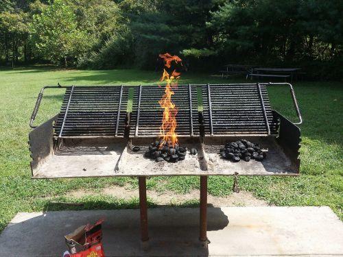 park bbq fire