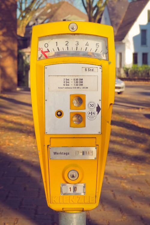 park parking meter old